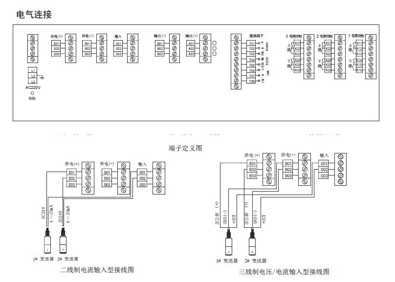 数字显示:  七段显示数码管 显示定义:  位为仪表状态位,第二位为