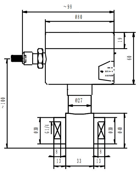 MDM580 型压力开关外形结构图